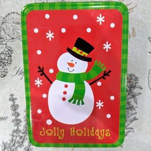Other - Jolly Holidays Snowman Cookie Tin